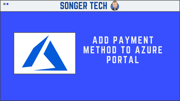 Add Payment Method to Azure Portal